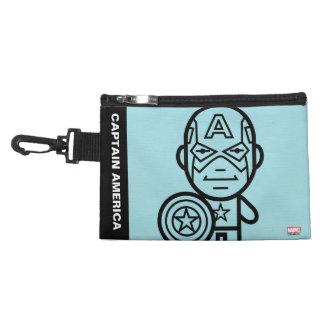 Captain America Stylized Line Art Accessory Bag