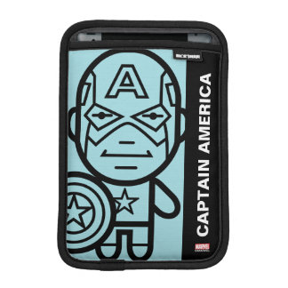Captain America Stylized Line Art iPad Mini Sleeve