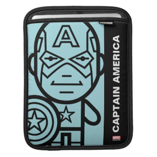 Captain America Stylized Line Art Sleeve For iPads