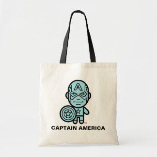 Captain America Stylized Line Art Tote Bag