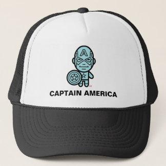 Captain America Stylized Line Art Trucker Hat