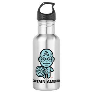 Captain America Stylized Line Art Water Bottle