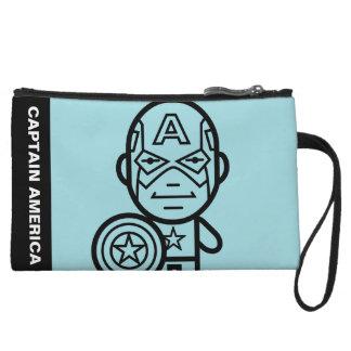 Captain America Stylized Line Art Wristlet