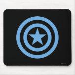 Captain America Super Soldier Logo Mouse Pad