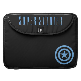 Captain America Super Soldier Logo Sleeve For MacBook Pro
