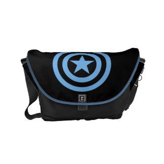 Captain America Super Soldier Logo Small Messenger Bag