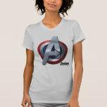 Captain America Themed Avengers Logo T Shirt