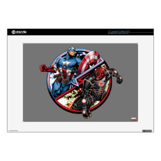 """Captain America Versus Red Skull 15"""" Laptop Decals"""