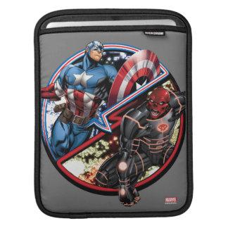 Captain America Versus Red Skull iPad Sleeve