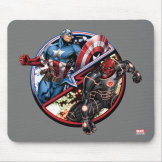 Captain America Versus Red Skull Mouse Pad