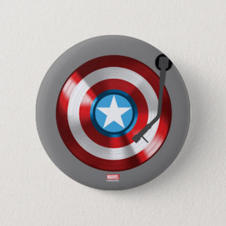 Captain America Vinyl Record Player Button