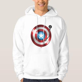 Captain America Vinyl Record Player Hoodie