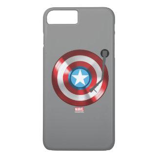 Captain America Vinyl Record Player iPhone 8 Plus/7 Plus Case