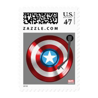 Captain America Vinyl Record Player Postage