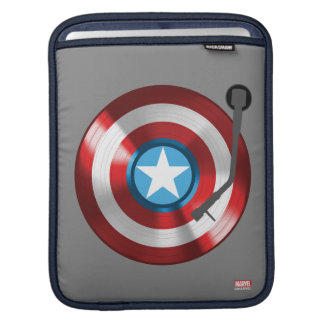 Captain America Vinyl Record Player Sleeve For iPads