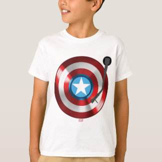 Captain America Vinyl Record Player T-Shirt