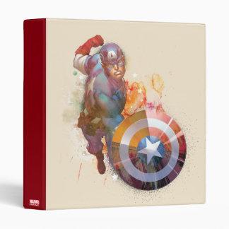 Captain America Watercolor Graphic 3 Ring Binder