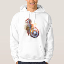 Captain America Watercolor Graphic Hoodie