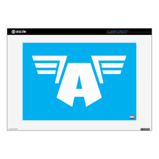 """Captain America Winged Symbol Decals For 15"""" Laptops"""