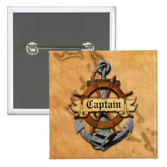 Captain Anchor And Wheel Button