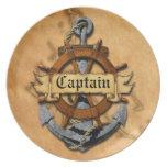 Captain Anchor And Wheel Dinner Plates