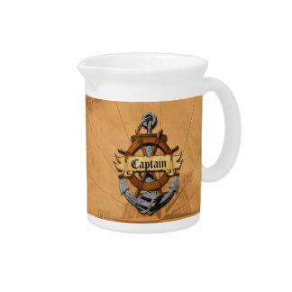 Captain Anchor And Wheel Drink Pitcher
