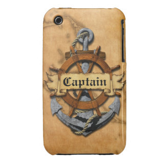 Captain Anchor And Wheel iPhone 3 Case-Mate Case