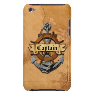 Captain Anchor And Wheel iPod Touch Case