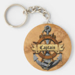 Captain Anchor And Wheel Key Chains