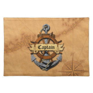 Captain Anchor And Wheel Place Mats