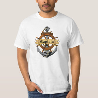 Captain Anchor And Wheel Shirt