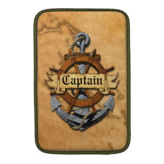 Captain Anchor And Wheel Sleeve For MacBook Air