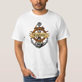 Captain Anchor And Wheel T-Shirt