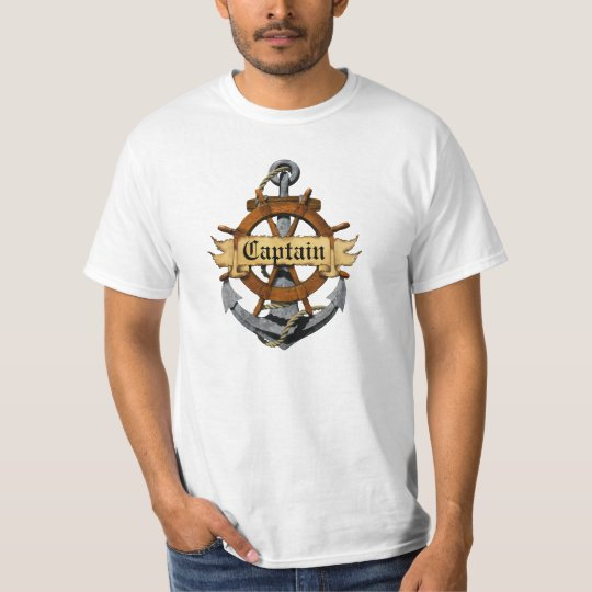 Captain Anchor And Wheel T-Shirt