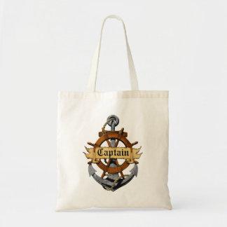Captain Anchor And Wheel Tote Bag