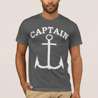 Captain Anchor Black/White American Apparel T-Shirt