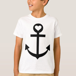 captain anchor heart T-Shirt