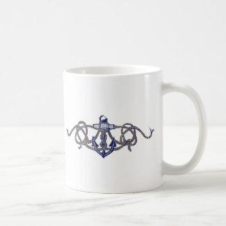 captain and anchor classic white coffee mug