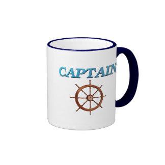 Captain and Captain's Wheel Ringer Mug