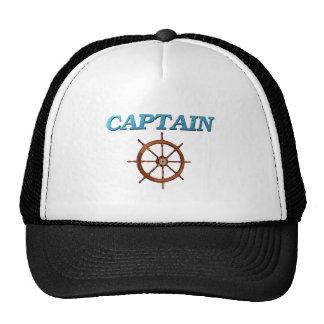 Captain and Captain's Wheel Trucker Hat