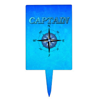 Captain And Compass Rose Cake Topper