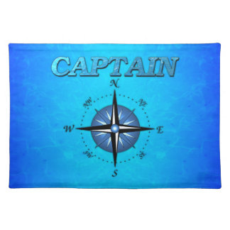 Captain And Compass Rose Place Mat