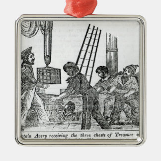 Captain Avery receiving three chests of Treasure Metal Ornament