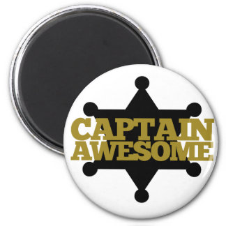 Captain Awesome 2 Inch Round Magnet