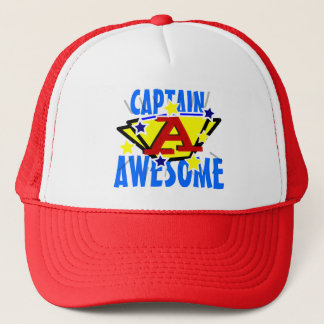 Captain Awesome Funny Trucker Hat