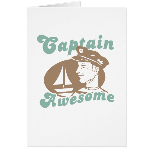 Captain Awesome Greeting Card