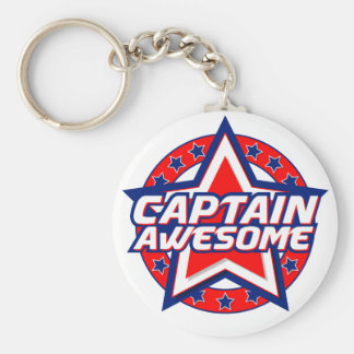 Captain Awesome Keychain