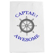 """Captain Awesome"" Medium Gift Bag"