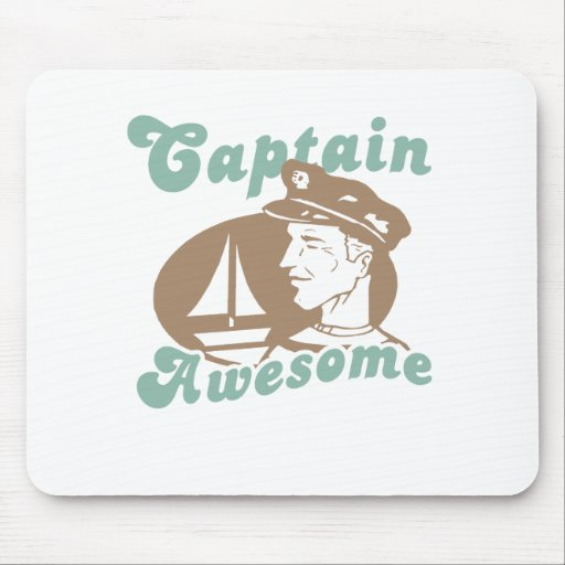Captain Awesome Mousepads