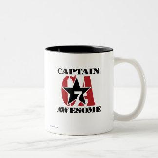 Captain Awesome Two-Tone Coffee Mug